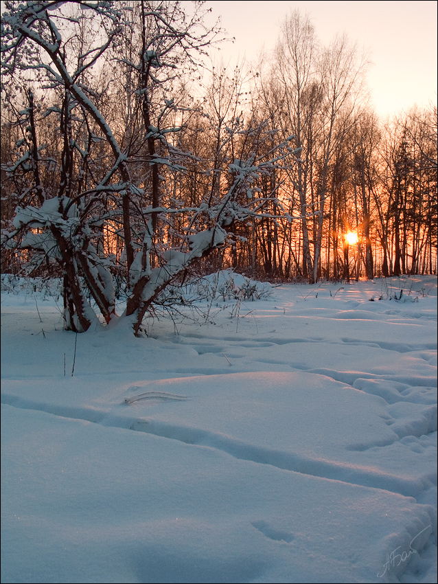 "photo ""[IV]"" tags: landscape, sunset, winter"
