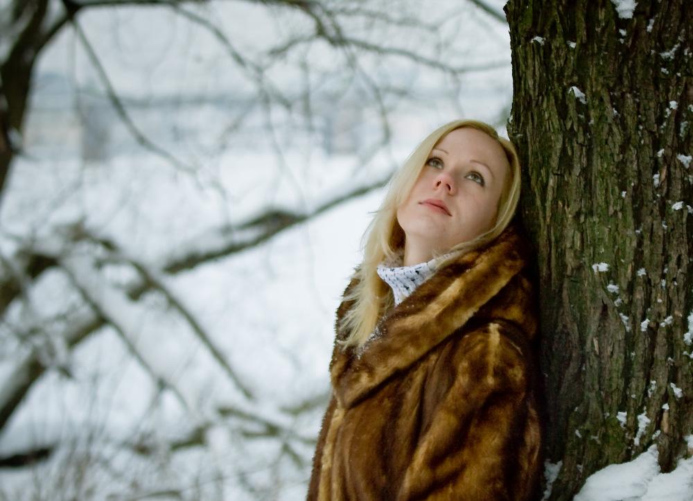 "фото ""вот и зима"" метки: портрет, женщина"