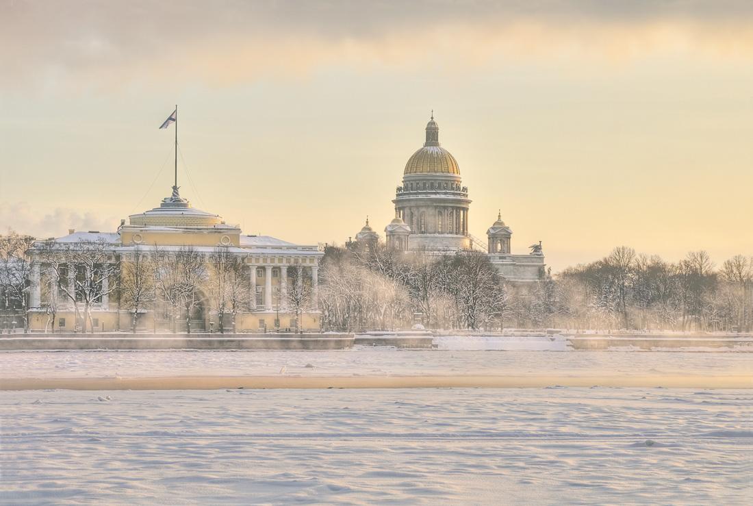 """фото """"Акварельный  зимний Петербург"""" метки: архитектура, город, пейзаж,"""