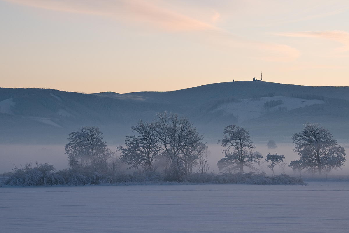 "photo ""Brocken"" tags: landscape, winter"