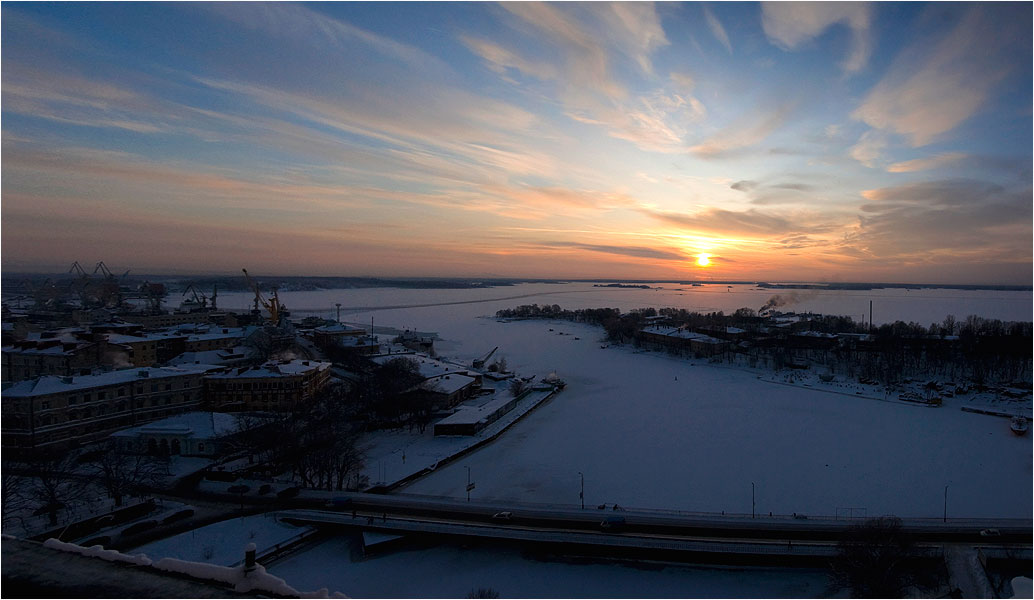 """фото """"Заревом заката даль небес объята..."""" метки: пейзаж, закат, зима"""