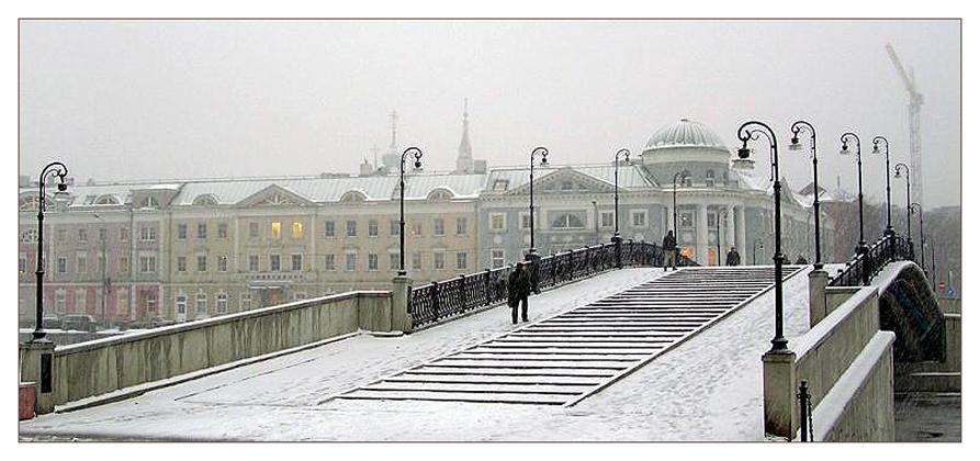 "фото ""Зимний мостик"" метки: город, архитектура, пейзаж,"