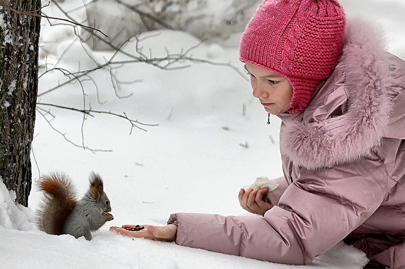 """фото """"доверие"""" метки: природа, портрет, дети, дикие животные"""