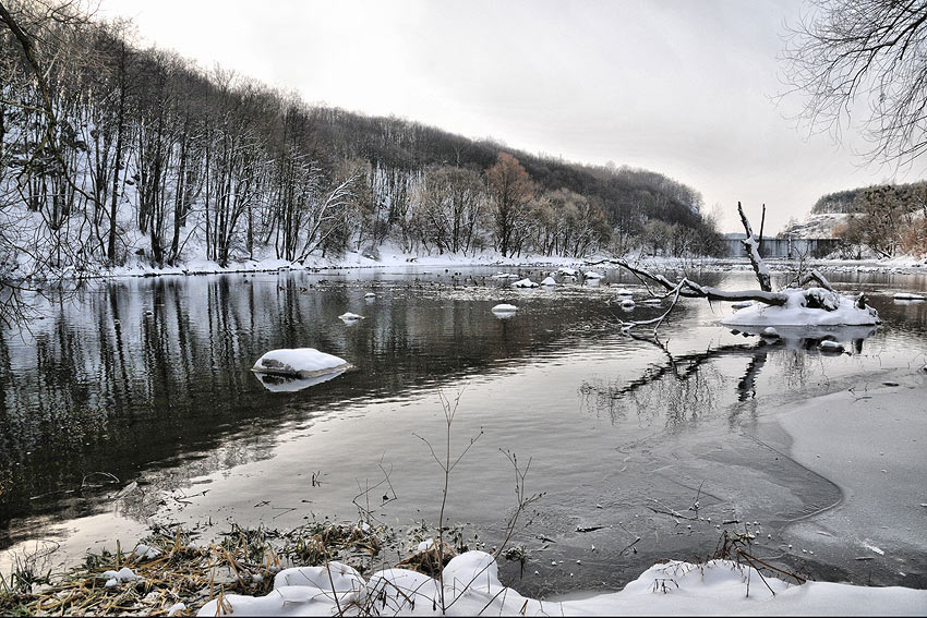"фото ""***"" метки: пейзаж, вода, зима"