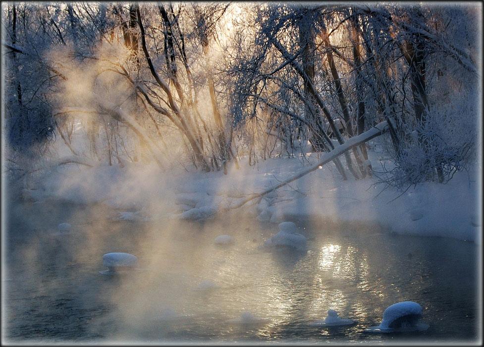 "фото ""Туман и солнце"" метки: пейзаж, зима"
