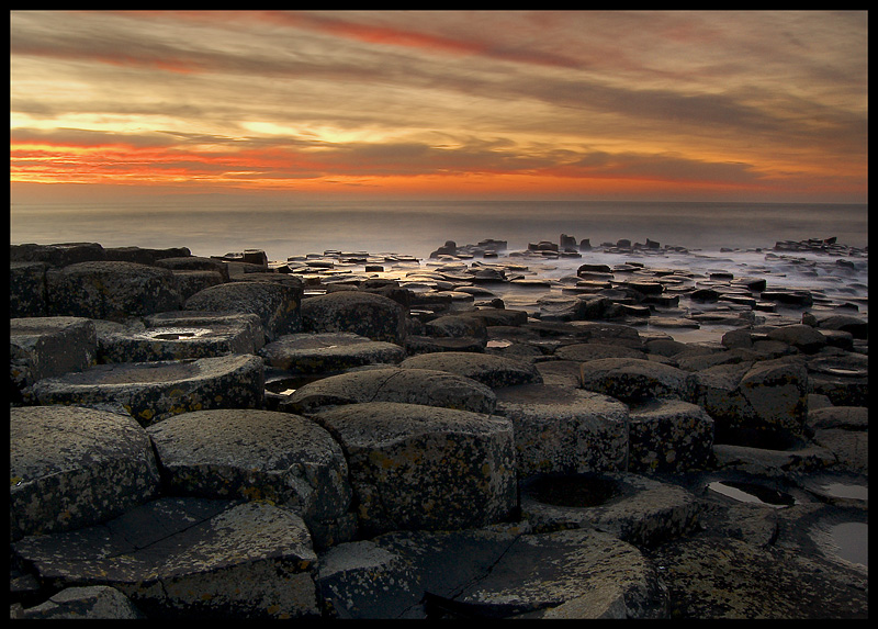 "photo ""Giant's Causeway"" tags: landscape, sunset, water"