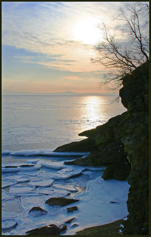 """фото """"Солнце января"""" метки: пейзаж, вода, зима"""