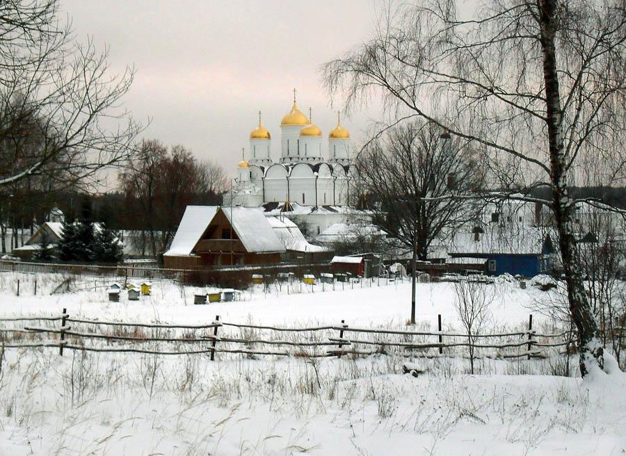 """фото """"Монастырская деревня."""" метки: пейзаж, зима"""