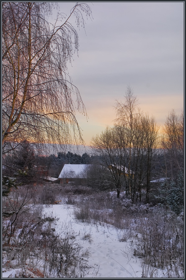 "photo ""Path to the morning"" tags: landscape, winter"