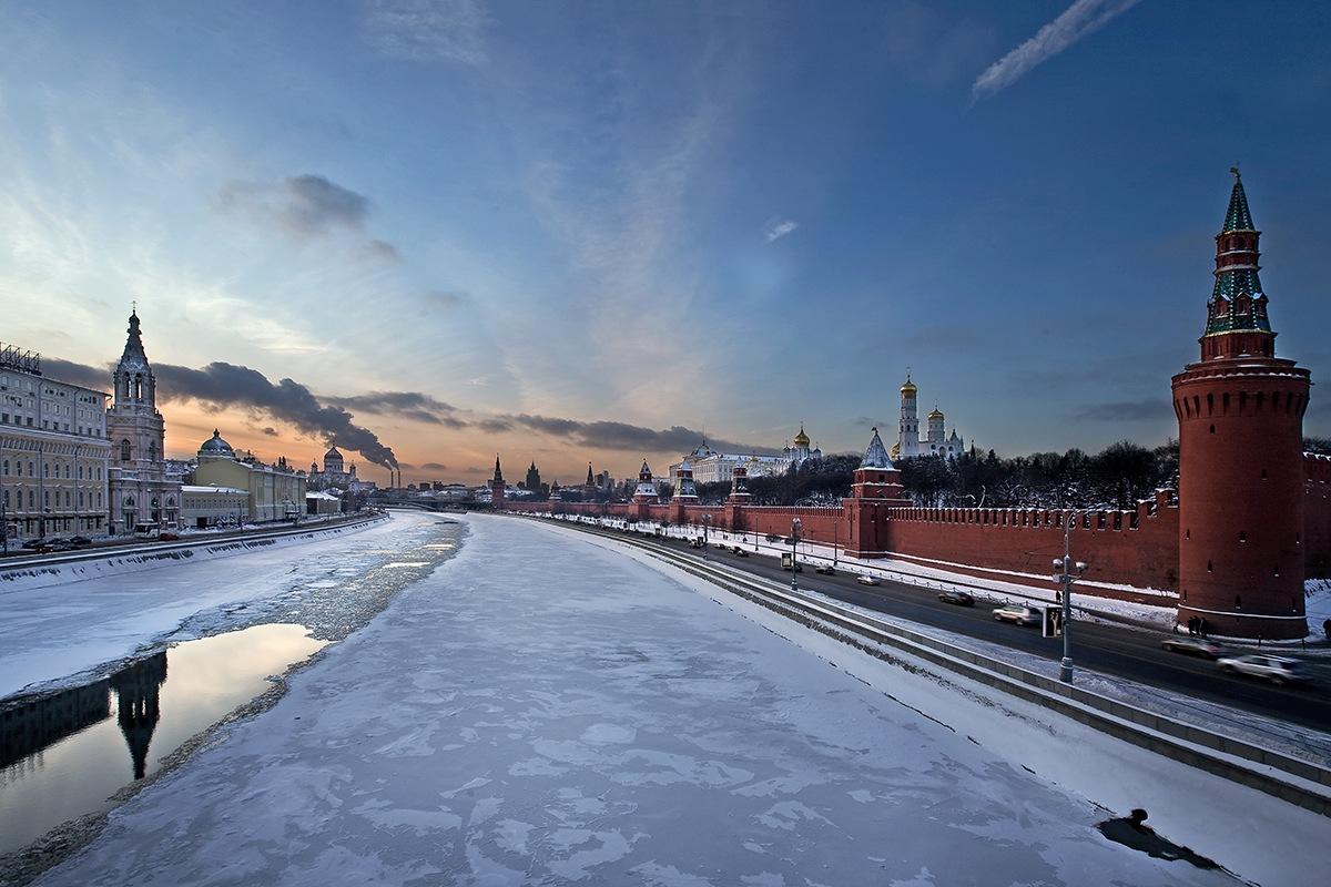"фото ""Москва морозная"" метки: пейзаж, город, закат"