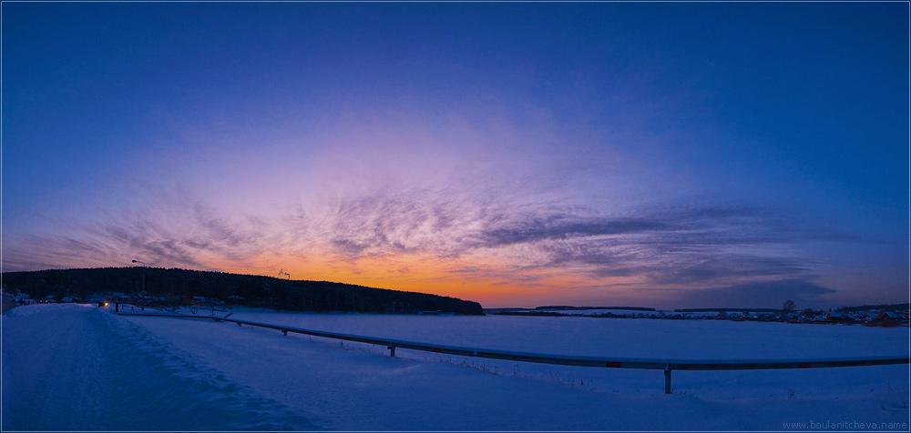 """фото """"Вечер"""" метки: пейзаж, панорама, закат"""
