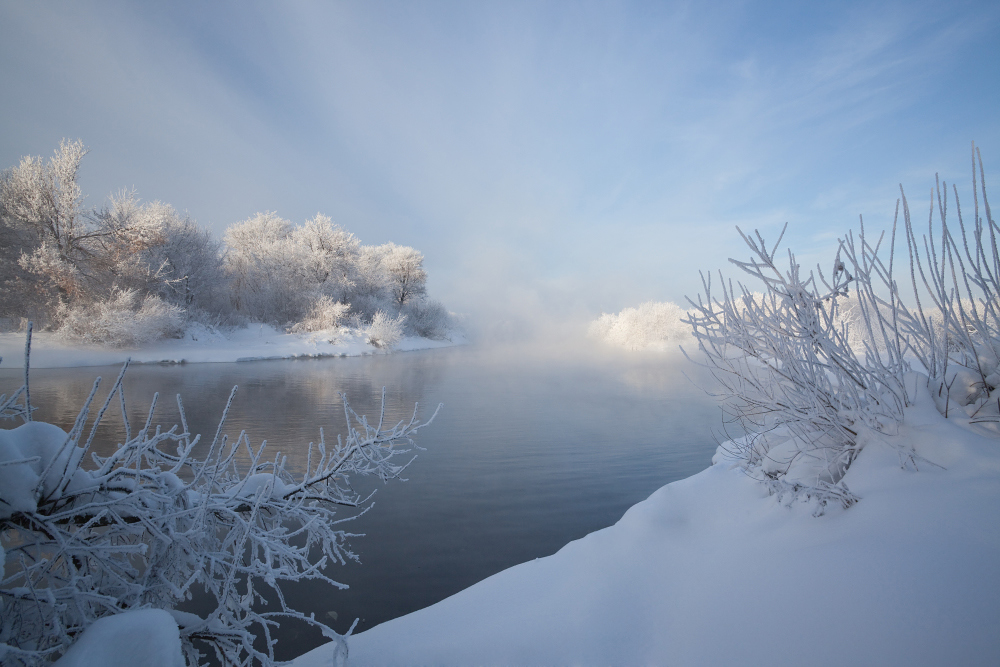 """фото """"Приближающийся поток"""" метки: пейзаж, зима"""