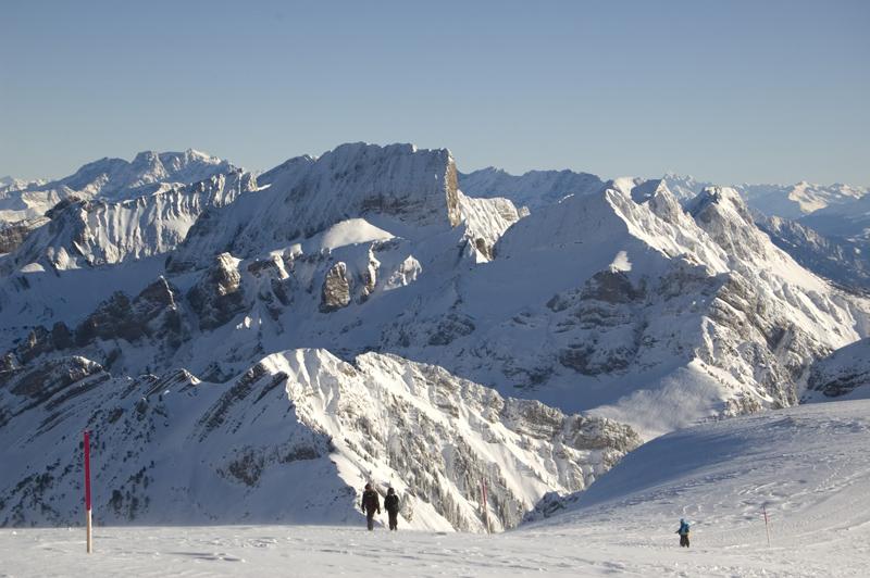 "фото ""View from Caeserrugg"" метки: пейзаж, горы, зима"