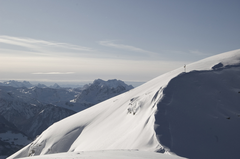 "photo ""View from Caeserrugg"" tags: landscape, mountains, winter"