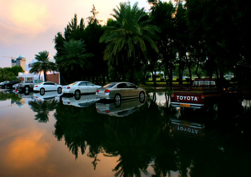 "photo ""Mirrored parking"" tags: landscape, travel, Asia"