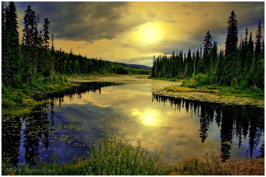 """фото """"Small Lake"""" метки: пейзаж, вода, закат"""