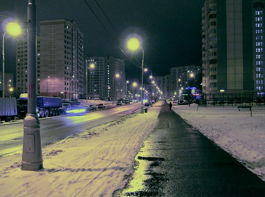 "фото ""Бреду домой, час ночи..."" метки: пейзаж, город, ночь"