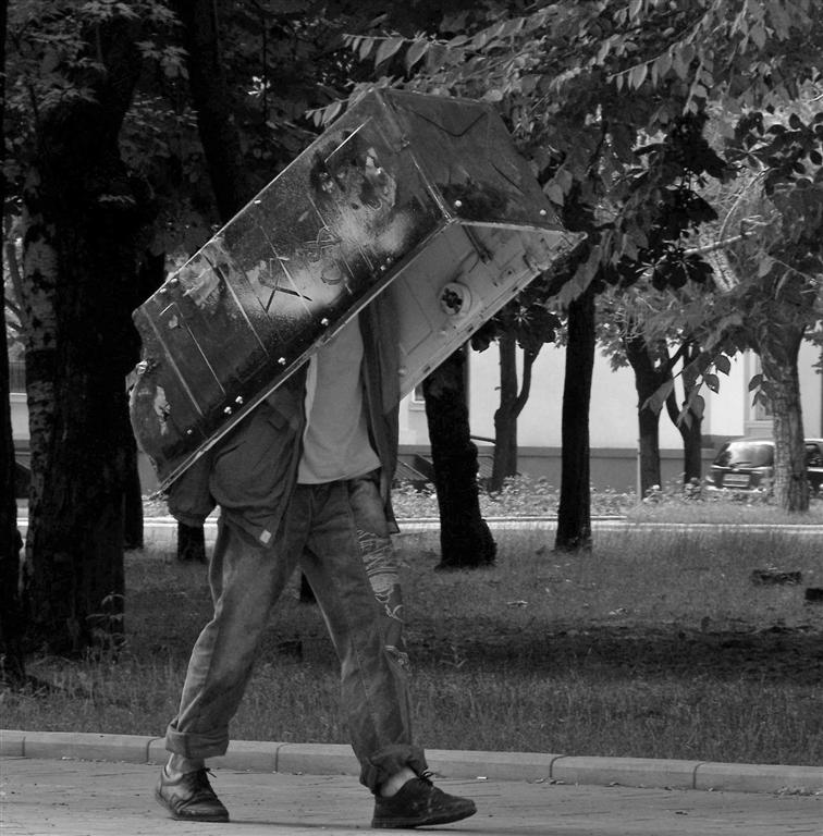 "фото ""Броненосец"" метки: черно-белые, разное,"