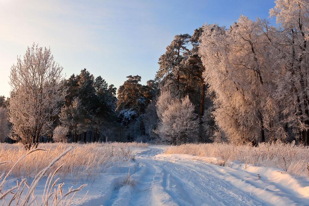 """фото """"Вечор, ты помнишь, вьюга злилась..."""" метки: пейзаж, закат, зима"""