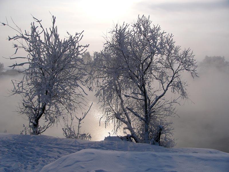 "фото ""Беседа у реки"" метки: пейзаж, зима"