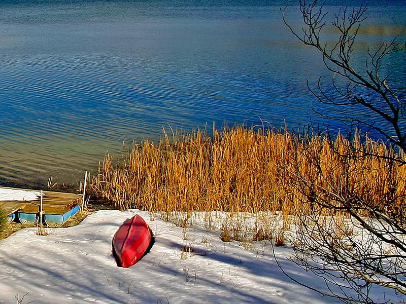 """фото """"Little Red Boat"""" метки: пейзаж, вода"""