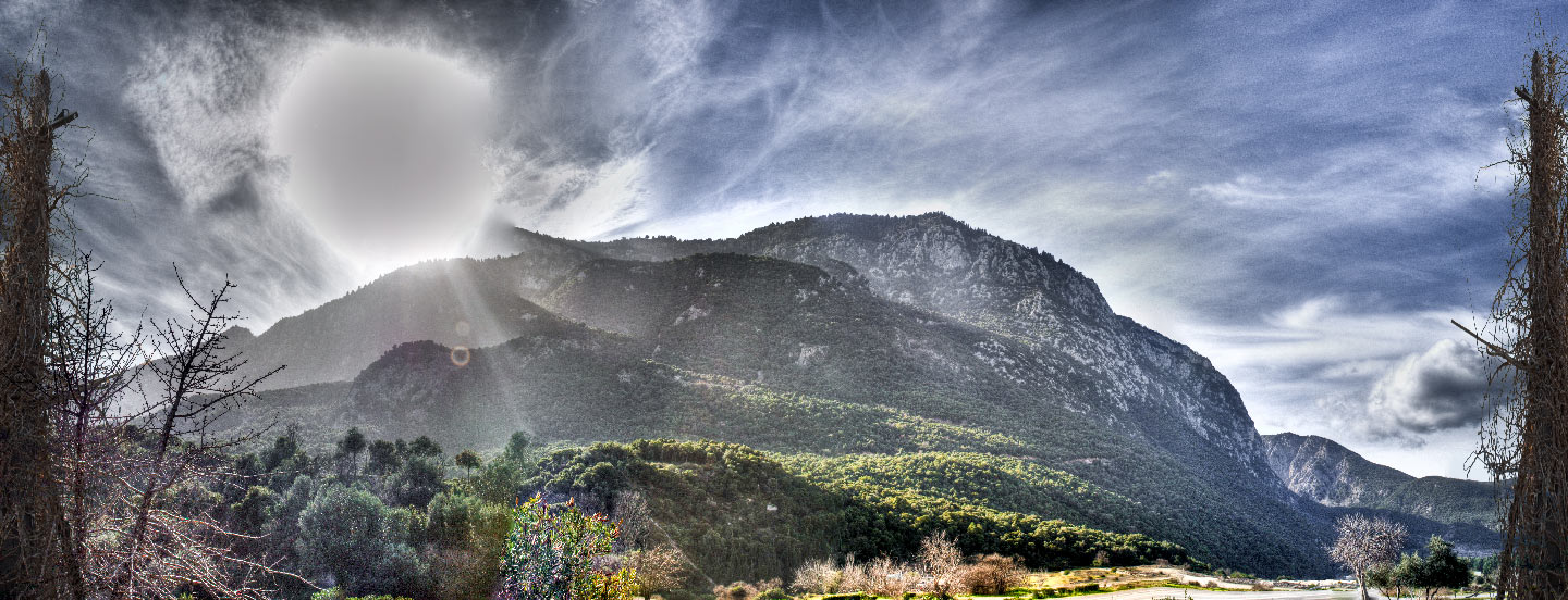 """photo """"Shooting in direct sunlight"""" tags: landscape, panoramic, mountains"""