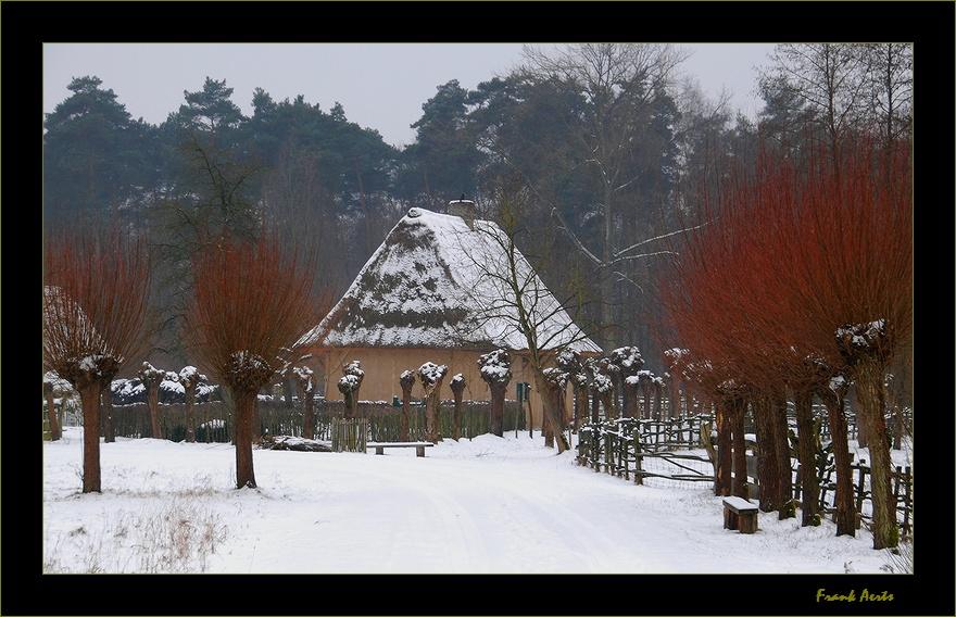"""фото """"Open Air Museum Bokrijk"""" метки: пейзаж, зима"""