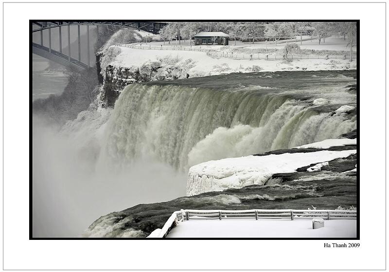 """фото """"Niagara fall in snow"""" метки: пейзаж, осень"""