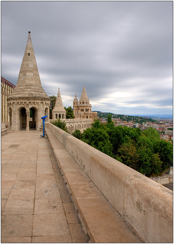 "photo ""Fishermen's Bastion"" tags: architecture, travel, landscape, Europe"