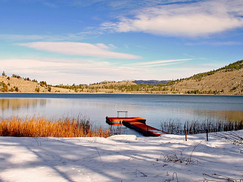 "photo ""Little Red Pier"" tags: landscape, winter"