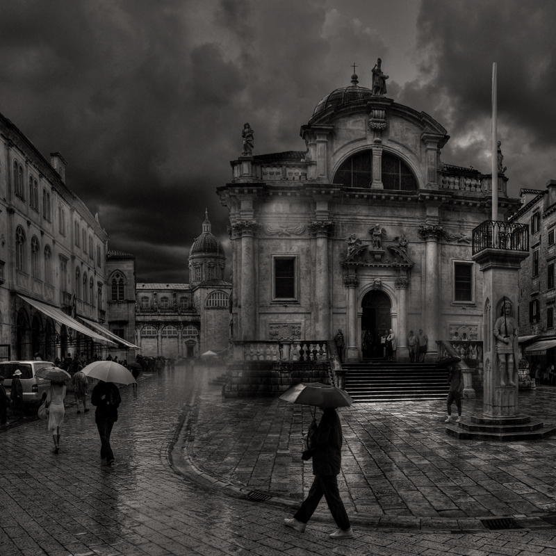 "photo ""Rain anything ..."" tags: black&white,"