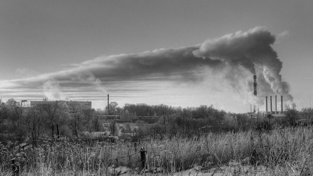 "photo ""About pollution"" tags: landscape,"