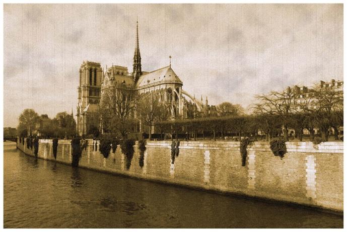 """photo """"Notre Dame de Paris"""" tags: old-time, landscape,"""