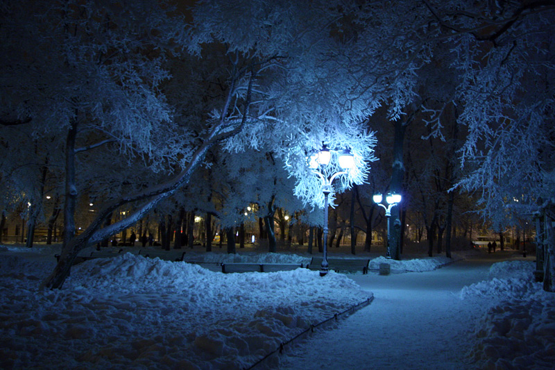 """фото """"***"""" метки: пейзаж, зима, ночь"""