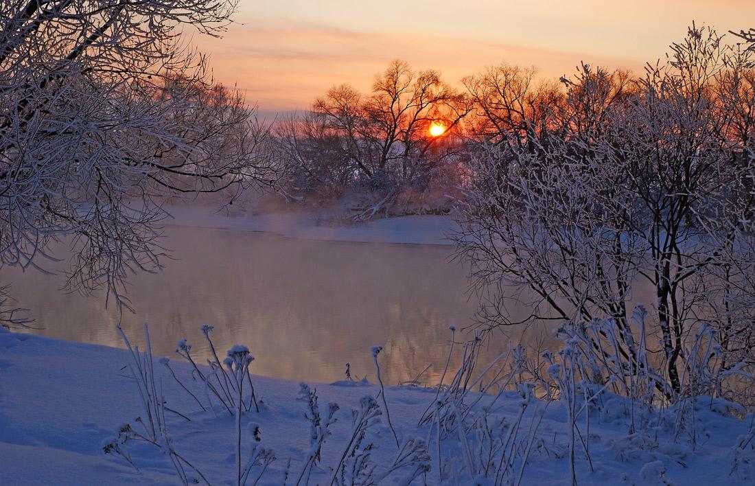 """фото """"Ностальгическая."""" метки: пейзаж, закат, зима"""