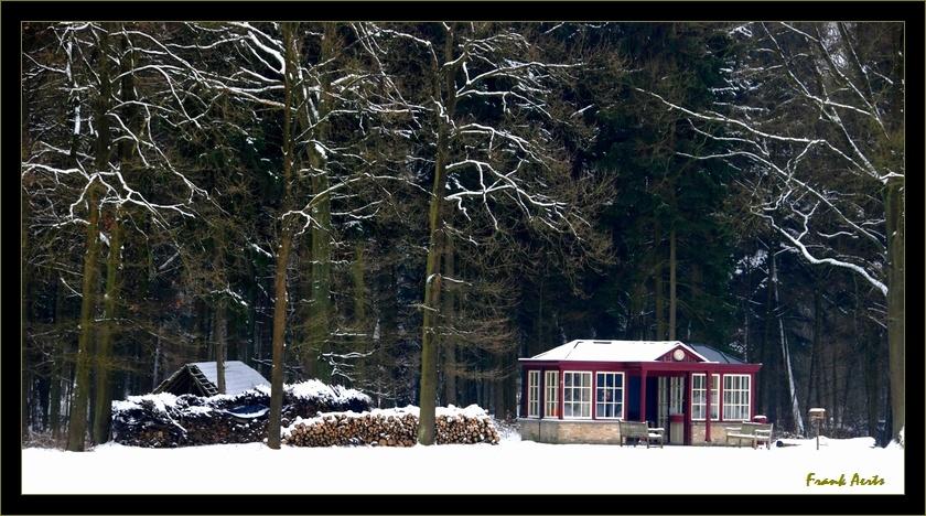 "photo ""Open air museum Bokrijk (station)"" tags: architecture, landscape, winter"