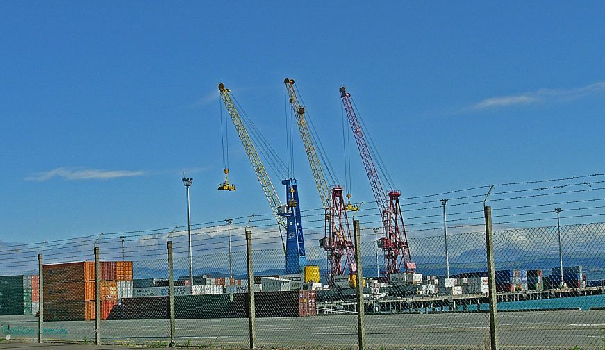 """photo """"Container Cranes."""" tags: travel, misc.,"""