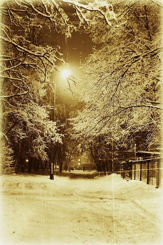"photo ""Winter's Eve"" tags: landscape, architecture, winter"