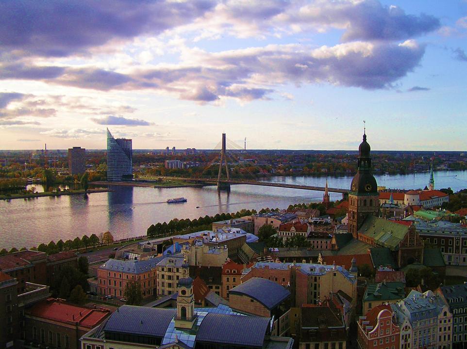 """photo """"Riga"""" tags: architecture, landscape, summer"""
