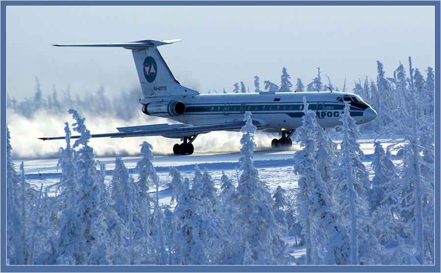 "photo ""***"" tags: landscape, technics, winter"