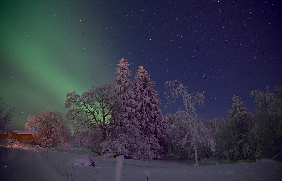 "photo ""Light Norhern Lights"" tags: landscape, winter"