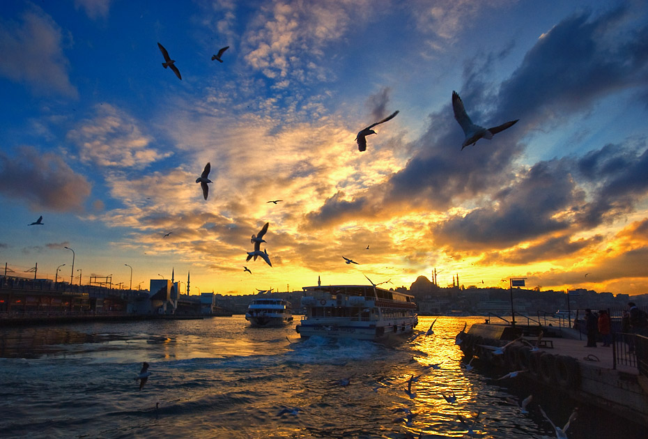 "photo ""that istanbul..."" tags: landscape, city, sunset"