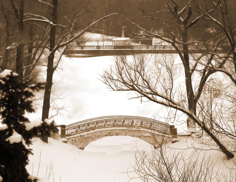 "photo ""Winter bridge"" tags: landscape, winter"