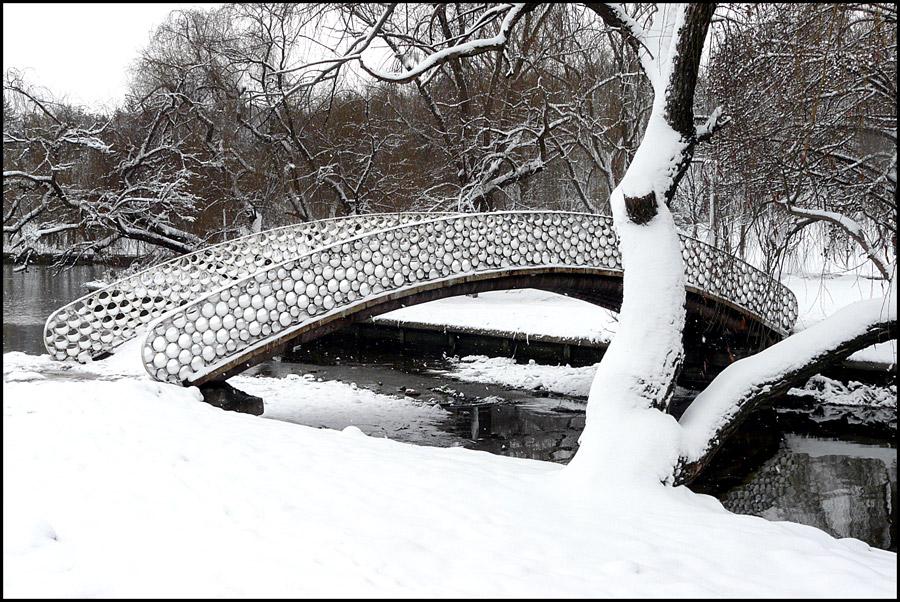 "photo ""Watermark Winter"" tags: landscape, city, black&white, winter"