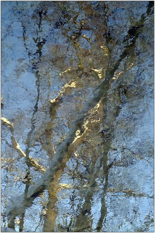"photo ""Mirages of the winter river Churilikha - 2"" tags: abstract, fragment,"