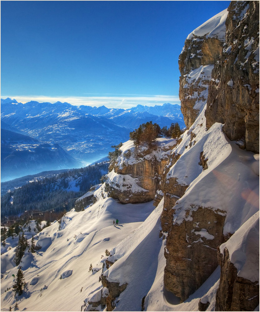 """photo """"The look from the top"""" tags: landscape, mountains, winter"""
