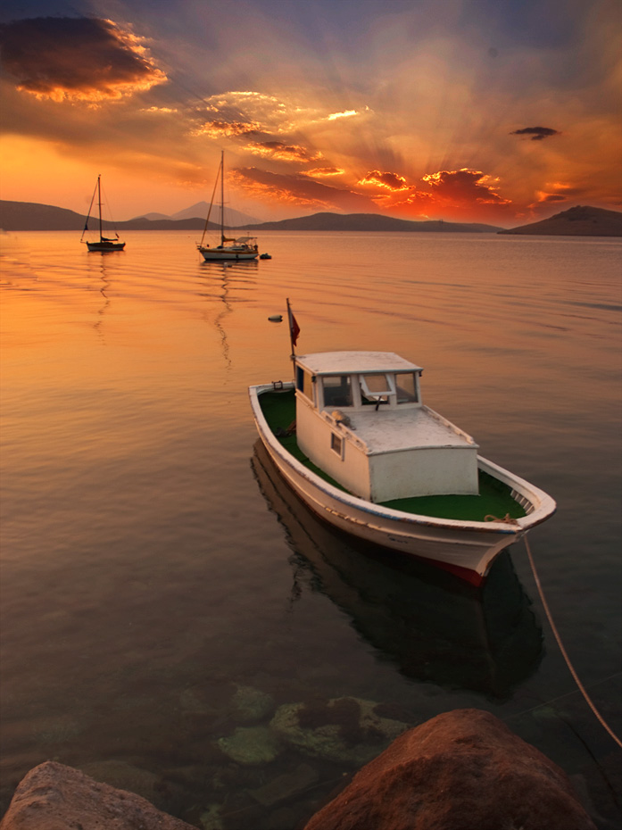 "photo ""sunset at bodrum"" tags: landscape, summer, sunset"