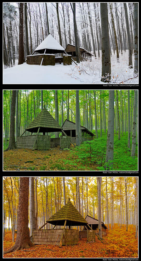"""photo """"Old wooden hut, seasons"""" tags: landscape, architecture,"""