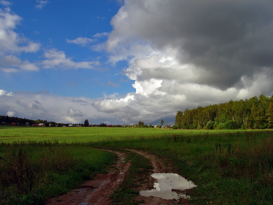 "photo ""After the rain (3)"" tags: landscape, clouds, summer"