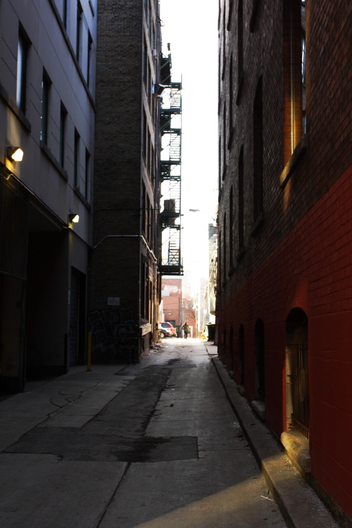 """photo """"Back Alley Escape"""" tags: city, reporting,"""